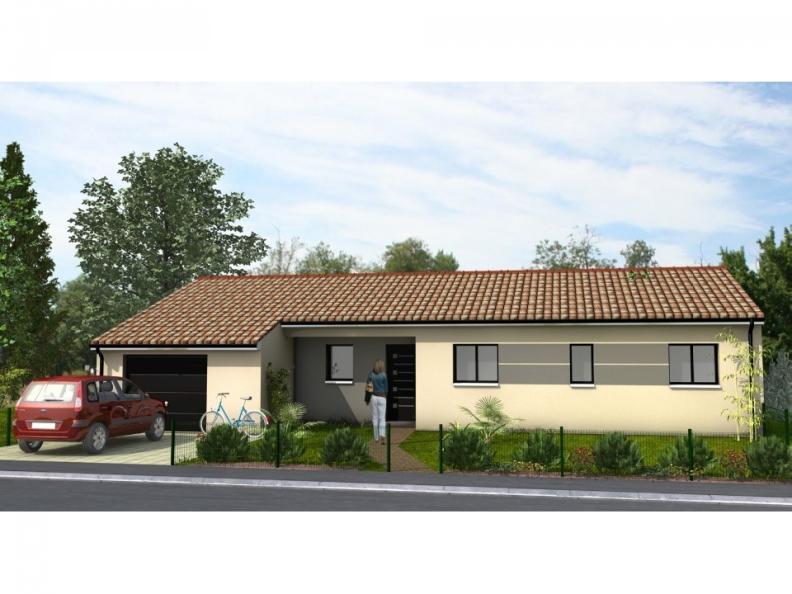 Modèle de maison Avant-Projet LUCON - 105 m2 - 3 chambres : Vignette 1