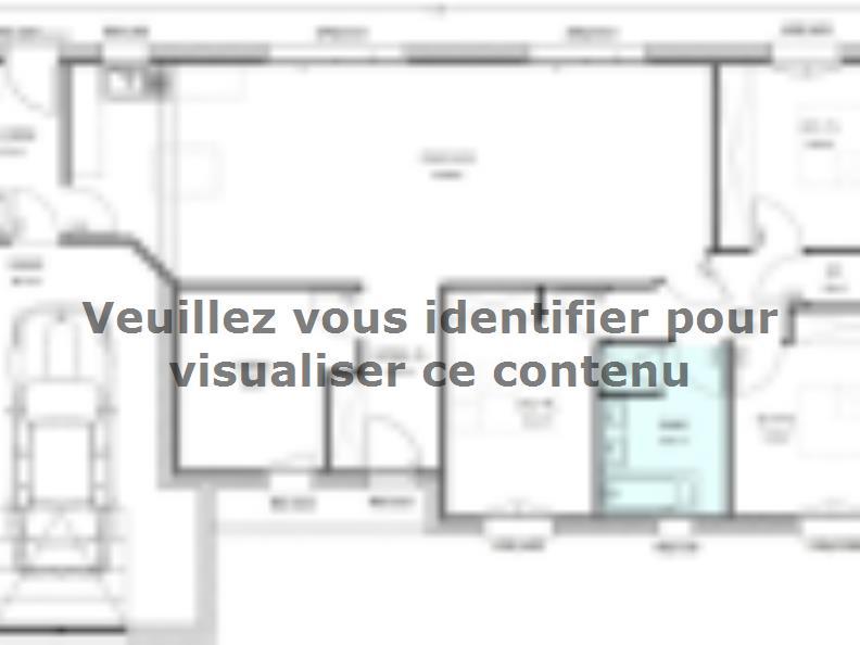 Plan de maison Avant-Projet LUCON - 105 m2 - 3 chambres : Vignette 1