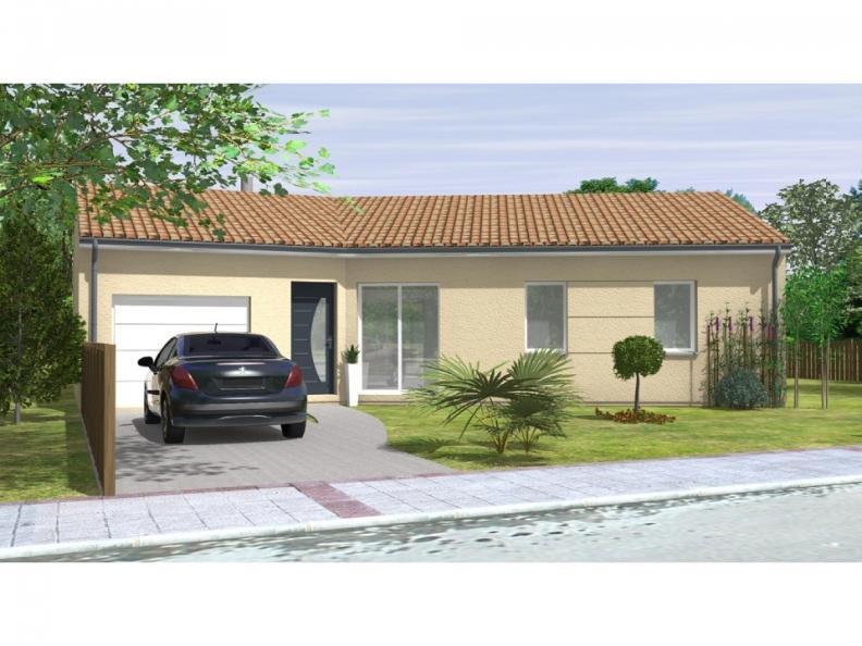 Modèle de maison Avant-Projet JARD SUR MER - 90 m2 - 3 chambres : Vignette 1