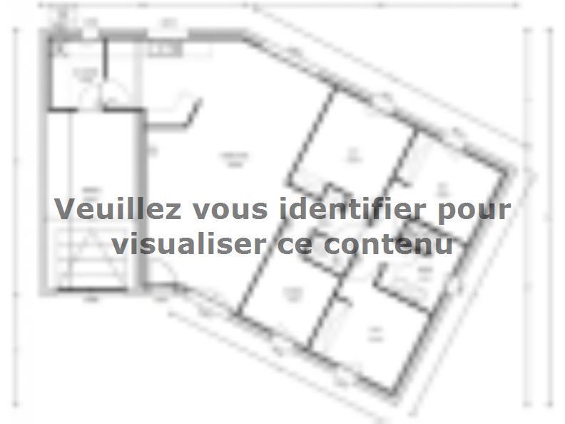 Plan de maison Avant-Projet JARD SUR MER - 90 m2 - 3 chambres : Vignette 1