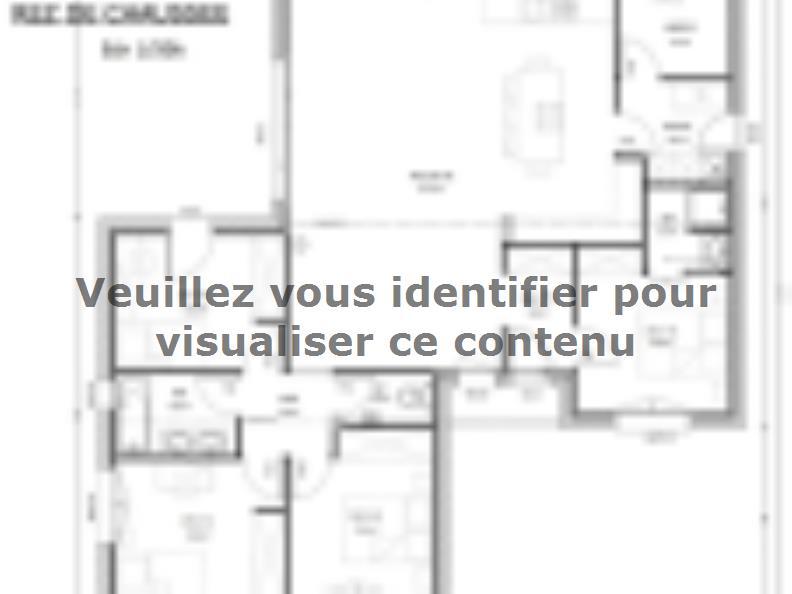 Plan de maison Avant-Projet LES EPESSES - 120 m² - 4 chambres : Vignette 1