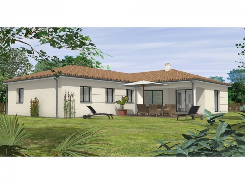 Modèle de maison Avant-Projet FOUGERE - 140 m² - 4 chambres : Vignette 1