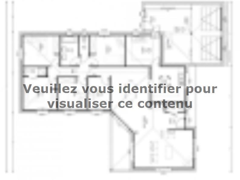 Plan de maison Avant-Projet FOUGERE - 140 m² - 4 chambres : Vignette 1