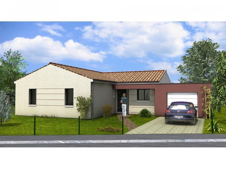 Modèle de maison Avant-Projet AIZENAY - 96 m2 - 3 chambres : Vignette 1