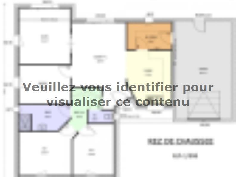 Plan de maison Avant-Projet AIZENAY - 96 m2 - 3 chambres : Vignette 1