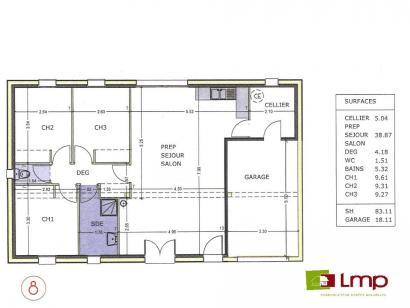 Modèle de maison Avant projet TALMONT ST HILAIRE 83m² - 3chambres 3 chambres  : Photo 3