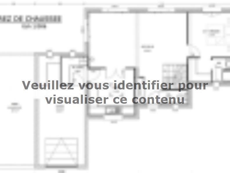 Plan de maison Avant-Projet LANDERONDE - 110 m² - 3 chambres : Vignette 1