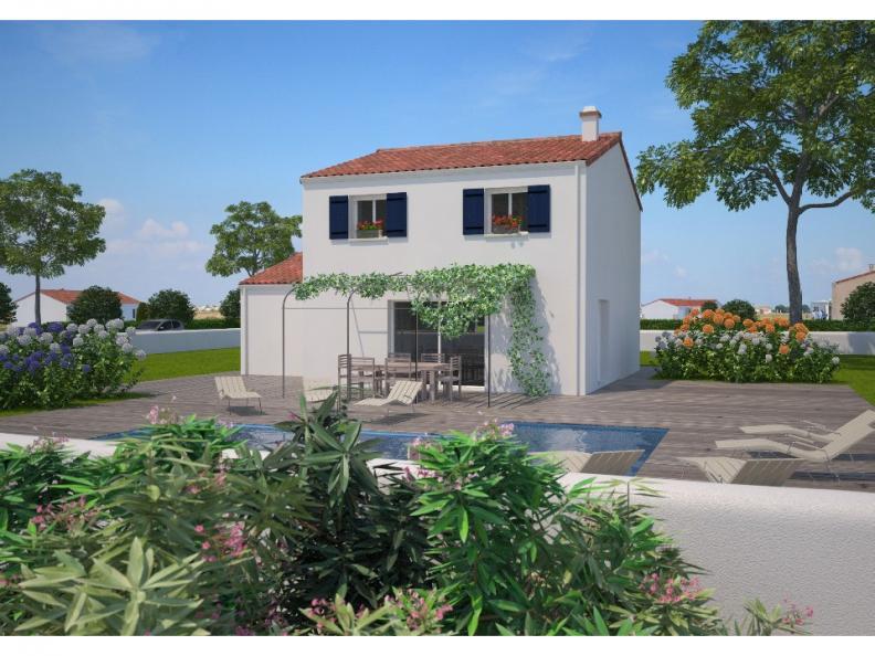 Modèle de maison Avant-projet LA CHATAIGNERAIE - 91 m² - 3 chambres : Vignette 1