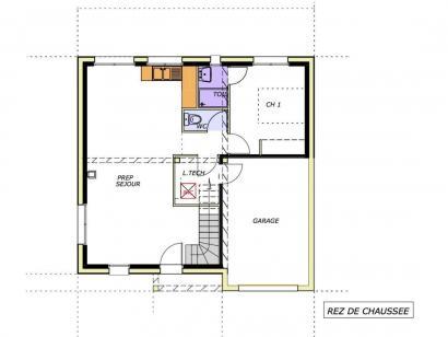 Plan de maison Avant-projet LA CHATAIGNERAIE - 91 m² - 3 chambres 3 chambres  : Photo 1