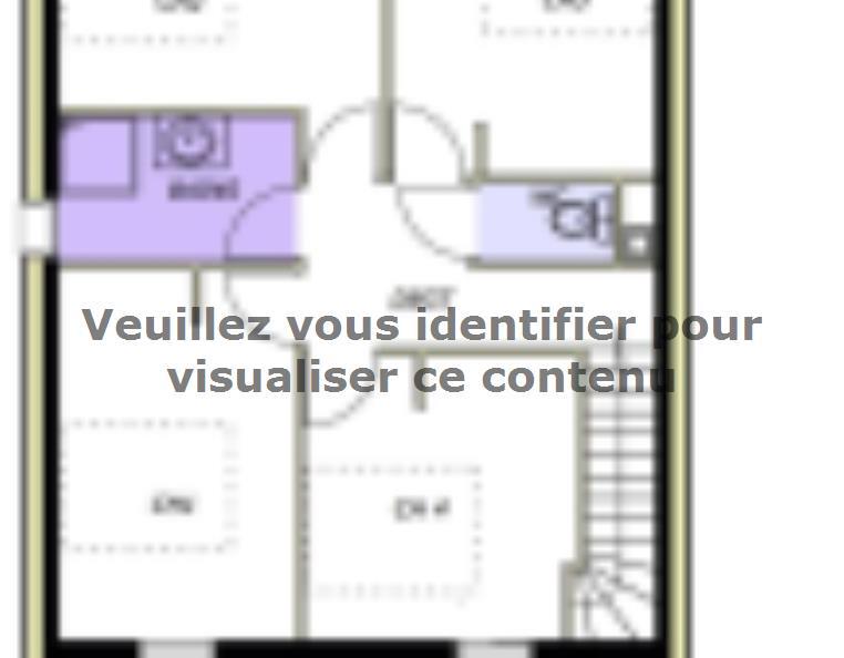 Plan de maison Avant projet AUBIGNY - 100M² - 4 chambres : Vignette 2