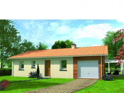 Modèle de maison Avant projet Moutiers Les Mauxfaits 3 chambres  : Photo 1