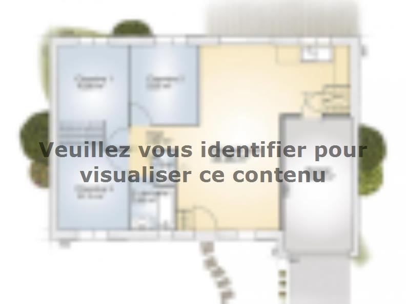 Plan de maison Opale G 73 F Tradition : Vignette 1