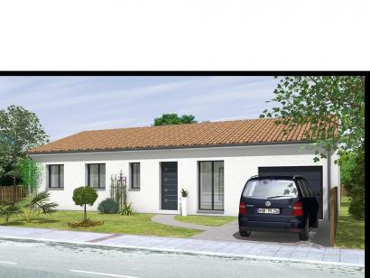 Modèle de maison Avant projet St Etienne De Brillouet - 3ch+1 bur - 3 chambres  : Photo 1