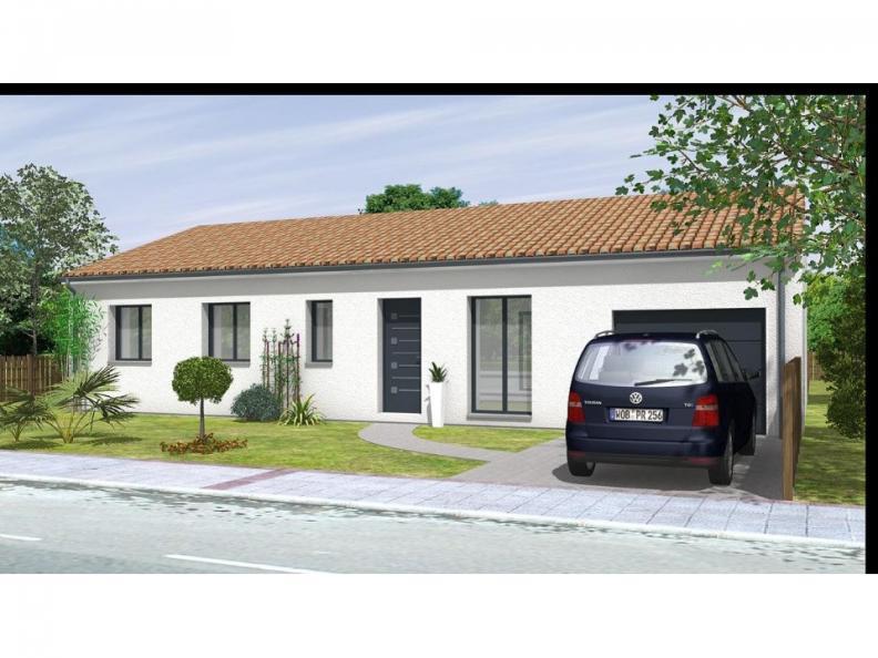 Modèle de maison Avant projet St Etienne De Brillouet - 3ch+1 bur - : Vignette 1