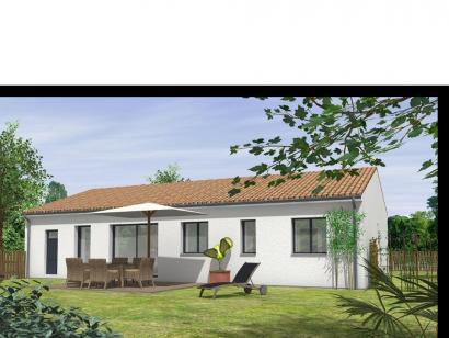 Modèle de maison Avant projet St Etienne De Brillouet - 3ch+1 bur - 3 chambres  : Photo 2