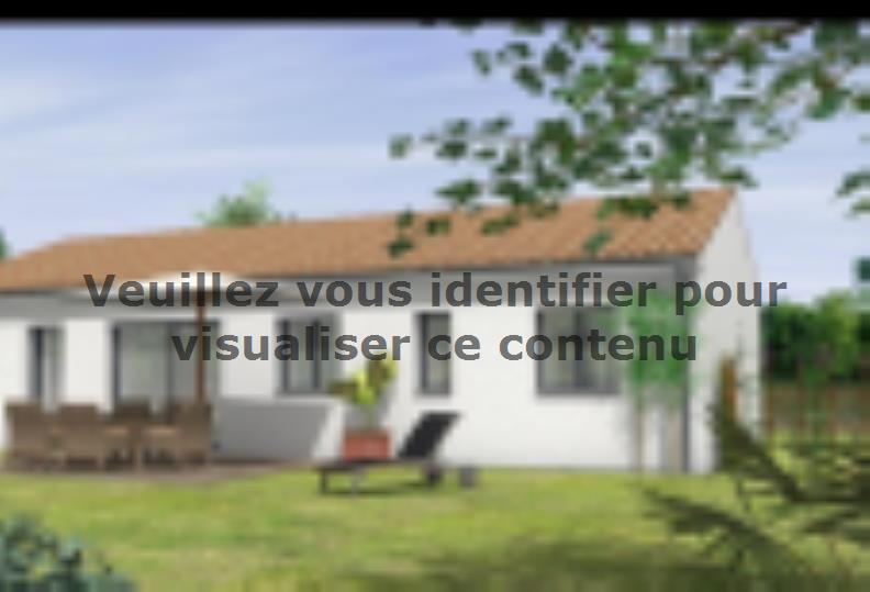 Modèle de maison Avant projet St Etienne De Brillouet - 3ch+1 bur - : Vignette 2