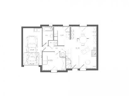 Modèle de maison Maison avec garage et combles aménageables 1 chambre  : Photo 2