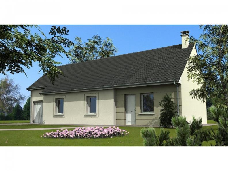 Modèle de maison Maison avec garage et 3 chambres au rez-de-chaussé : Vignette 1