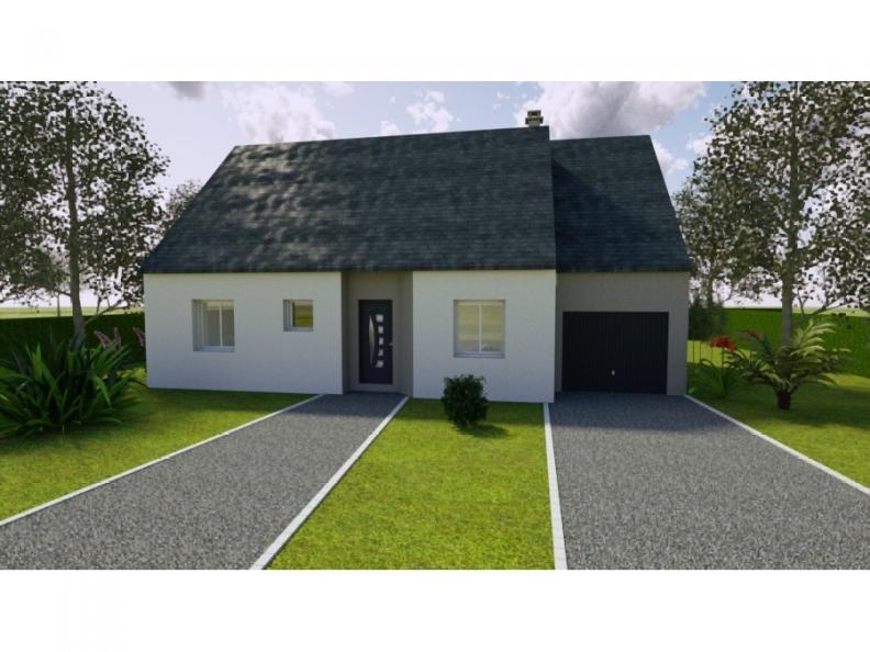 Modèle de maison AVANT PROJET LUCEAU - 70 m² - 2 chambres : Vignette 1