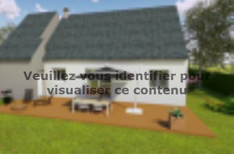 Modèle de maison AVANT PROJET LUCEAU - 70 m² - 2 chambres : Vignette 2