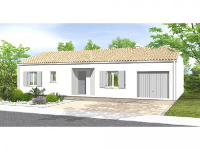 Modèle de maison Avant Projet LA TRANCHE SUR MER - 75 m² - 2 chambr 2 chambres  : Photo 1