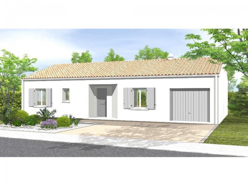 Modèle de maison Avant Projet LA TRANCHE SUR MER - 75 m² - 2 chambr : Vignette 1
