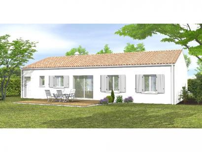 Modèle de maison Avant Projet LA TRANCHE SUR MER - 75 m² - 2 chambr 2 chambres  : Photo 2
