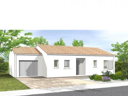 Modèle de maison Avant projet BOURNEZEAU 72m² - 3 chambres 3 chambres  : Photo 1