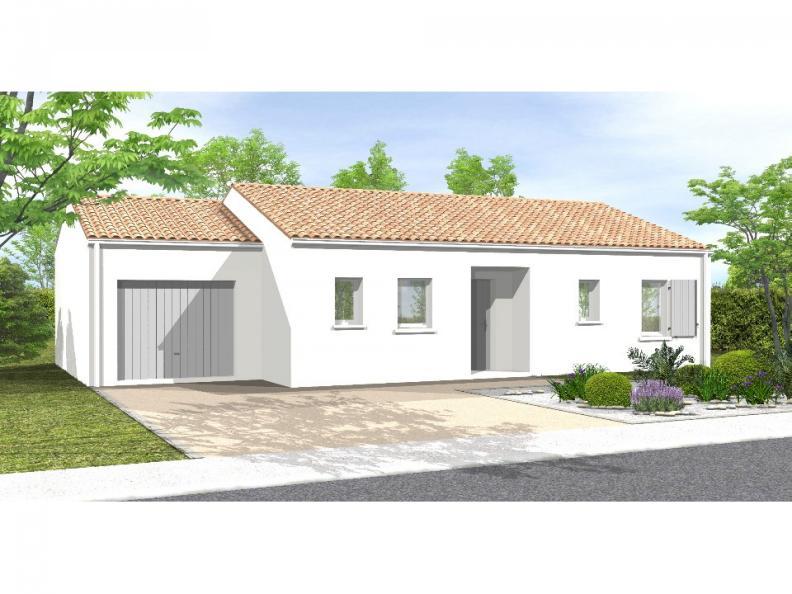 Modèle de maison Avant projet BOURNEZEAU 72m² - 3 chambres : Vignette 1