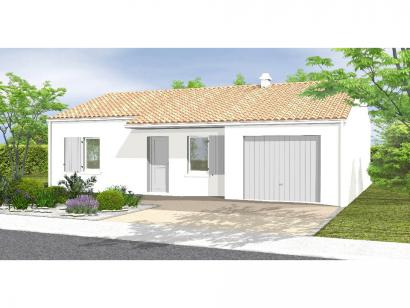 Modèle de maison Avant Projet LA GENETOUZE  58 m² - 1 chambre 1 chambre  : Photo 1