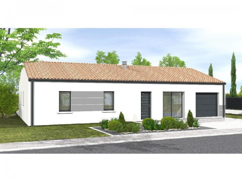 Modèle de maison Avant projet NIORT  89 m² - 4 chambres : Vignette 1