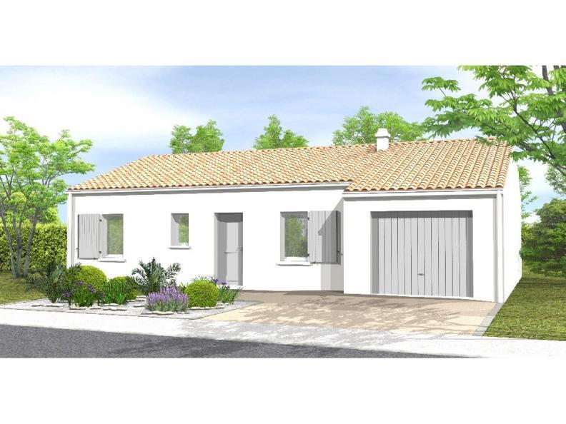 Modèle de maison Avant-projet BOULOGNE - 84 m² - 3 chambres : Vignette 1