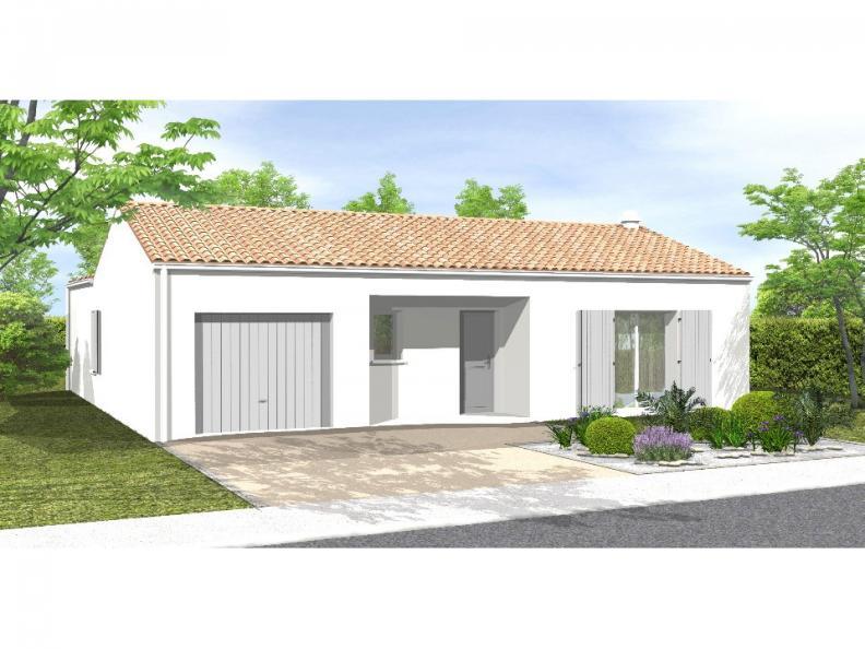 Modèle de maison Avant-projet BRESSUIRE - 104 m² - 4 chambres : Vignette 1