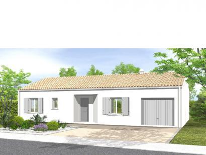 Modèle de maison Avant-Projet FONTENAY LE COMTE - 80 m² - 3chambres 3 chambres  : Photo 1
