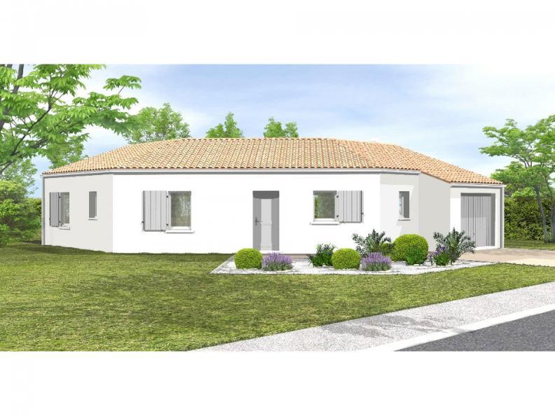 Modèle de maison Avant-projet LA MOTHE ACHARD - 83 m² - 3 chambres : Vignette 1