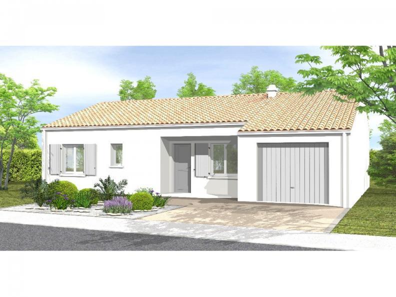 Modèle de maison Avant-projet MACHE - 84 m² - 3 chambres : Vignette 1