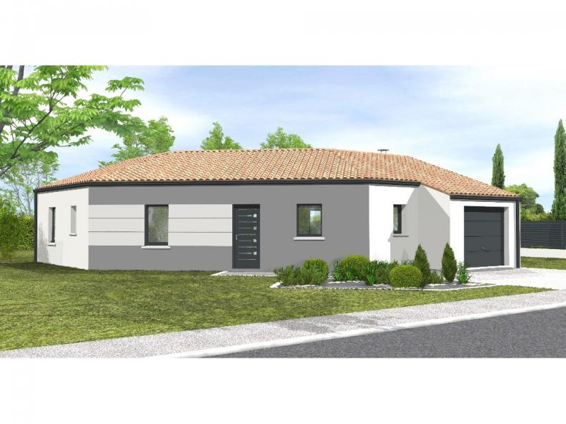 Modèle de maison Avant-projet MALLEZAIS - 90 m² - 3 chambres : Vignette 1