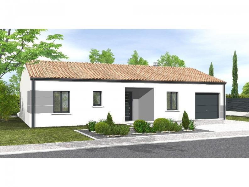 Modèle de maison Avant-projet MARANS - 80 m² - 3 chambres : Vignette 1