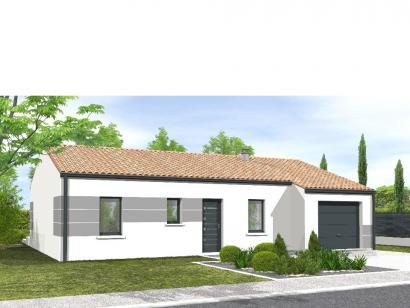 Modèle de maison Avant-projet MONTAIGU - 90 m² - 4 chambres 4 chambres  : Photo 1