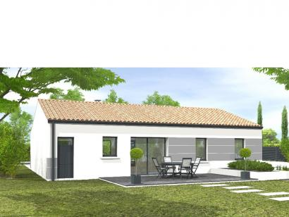Modèle de maison Avant-projet MONTAIGU - 90 m² - 4 chambres 4 chambres  : Photo 2