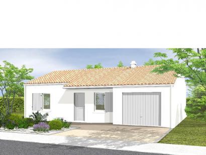 Modèle de maison Avant-Projet NOTRE DAME DE MONTS - 67 m² - 2 chamb 2 chambres  : Photo 1