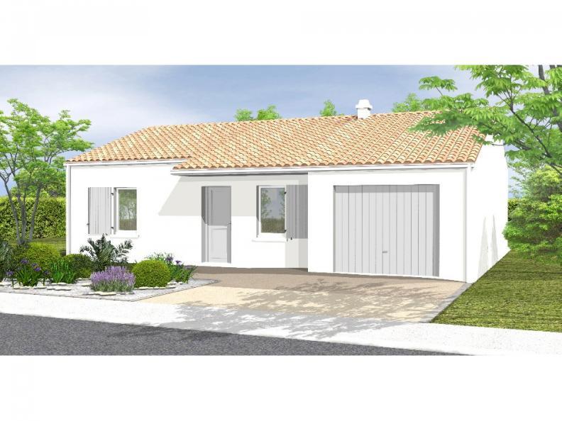 Modèle de maison Avant-Projet NOTRE DAME DE MONTS - 67 m² - 2 chamb : Vignette 1