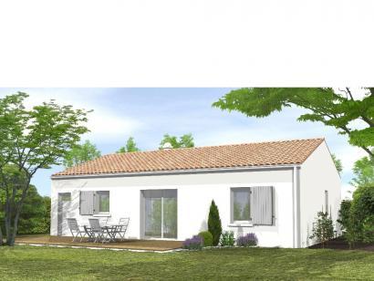 Modèle de maison Avant-Projet NOTRE DAME DE MONTS - 67 m² - 2 chamb 2 chambres  : Photo 2