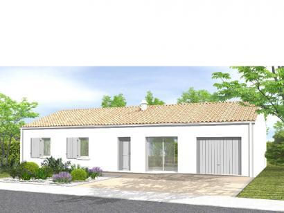 Modèle de maison Avant-projet ST JULIEN DES LANDES - 80 m² - 3 cham 4 chambres  : Photo 1