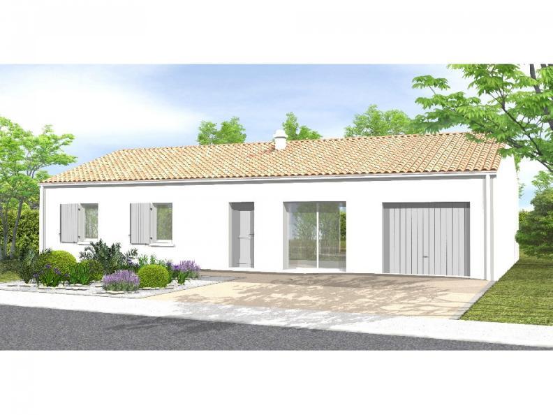 Modèle de maison Avant-projet ST JULIEN DES LANDES - 80 m² - 3 cham : Vignette 1