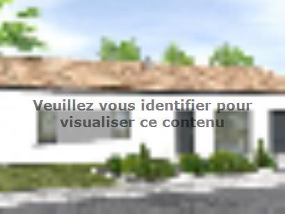 Plan de maison Avant-projet TIFFAUGES - 103 m² - 4 chambres 2 chambres  : Photo 1