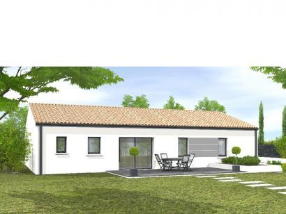 Modèle de maison Avant-projet TIFFAUGES - 103 m² - 4 chambres 2 chambres  : Photo 1