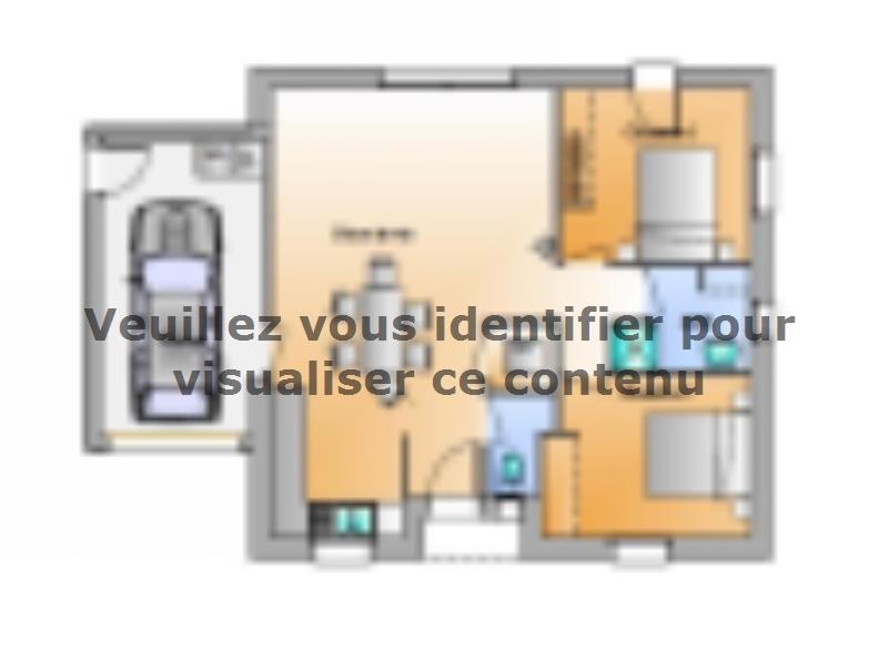 Plan de maison AVANT PROJET EVRUNES 2 CHAMBRES : Vignette 1