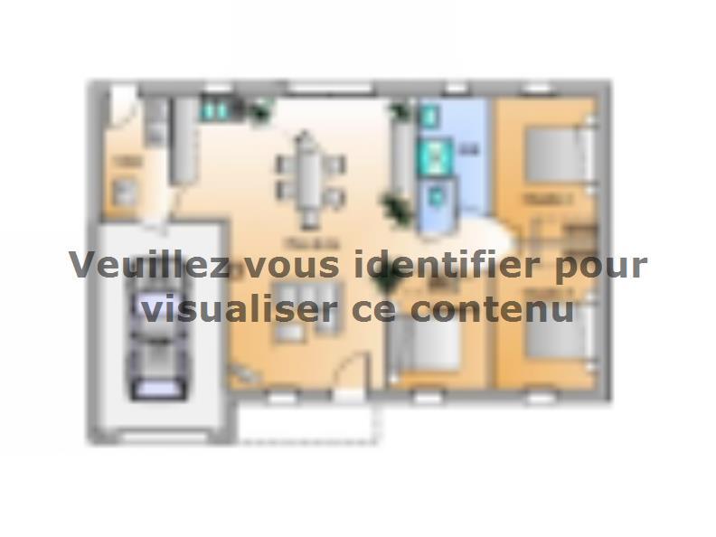 Plan de maison Avant-projet St Etienne Du Bois 3 Chambres : Vignette 1