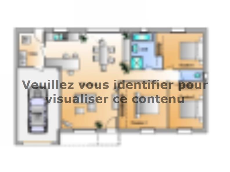 Plan de maison Avant-Projet La Génetouze 3 chambres : Vignette 1